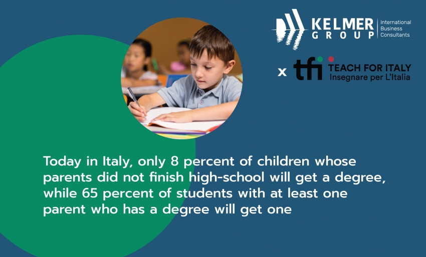 "Kelmer Group is now a ""Friend of Teach for Italy"""